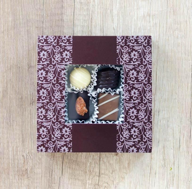 gaveboks med konfekt